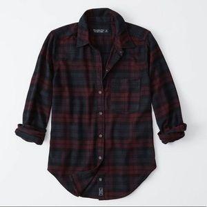Abercrombie Soft A/F Flannel Plaid Button Shirt